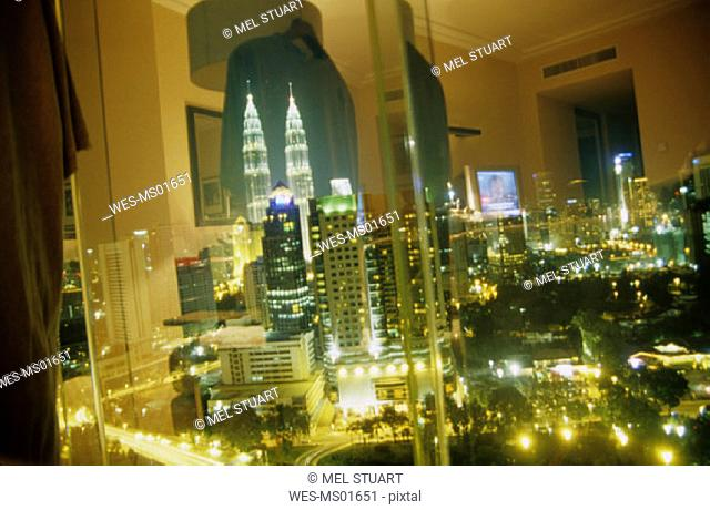 Kuala Lumpur, view from room to the Twin Towers , Malaysia