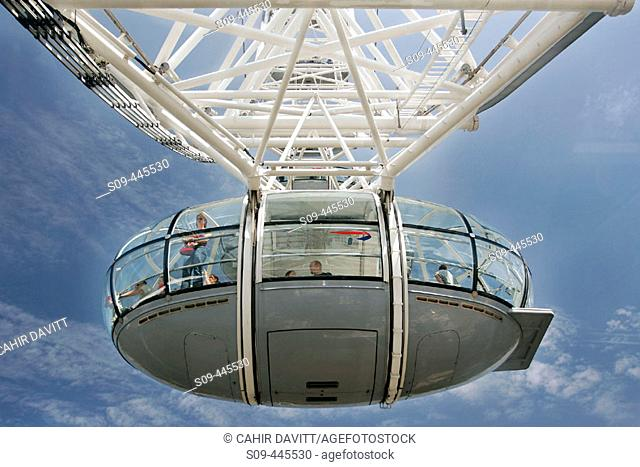 Cabin of London Eye, London. England, UK