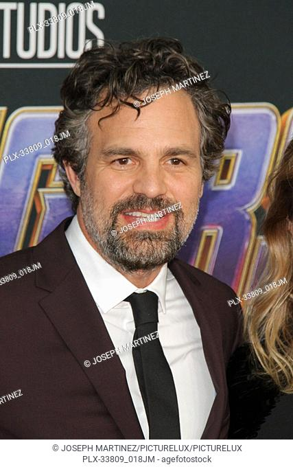 """Mark Ruffalo at The World Premiere of Marvel Studios' """"""""Avengers: Endgame"""""""" held at the Los Angeles Convention Center, Los Angeles, CA, April 22, 2019"""
