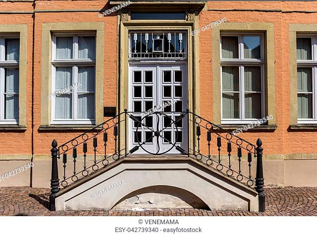 Entrance to a historic house in Warendorf, Germany