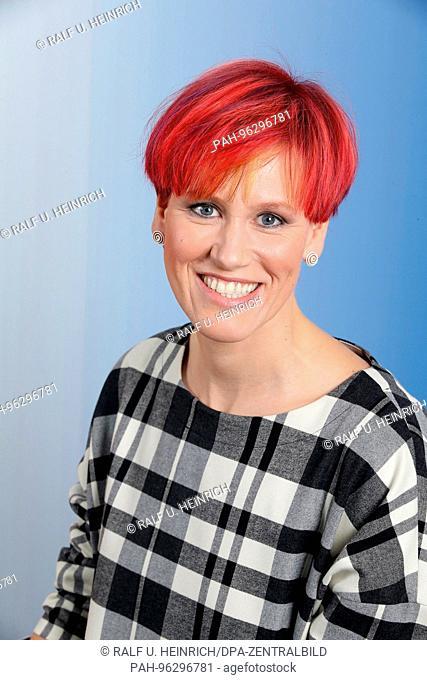 Kati Wilhelm (3-fache Olympiasiegerin im Biathlon, ARD-Expertin) / RIVERBOAT beim MDR in Leipzig, Sendung am 20.10.2017, Foto von der Aufzeichnung am 12
