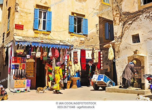 street scene, Rue Al Mellah, Medina, Essaouira, Morocco