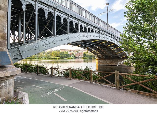 Puente Nuevo o Puente de Enrique Estevan. Salamanca. Ciudad Patrimonio de la Humanidad. Castilla León. España