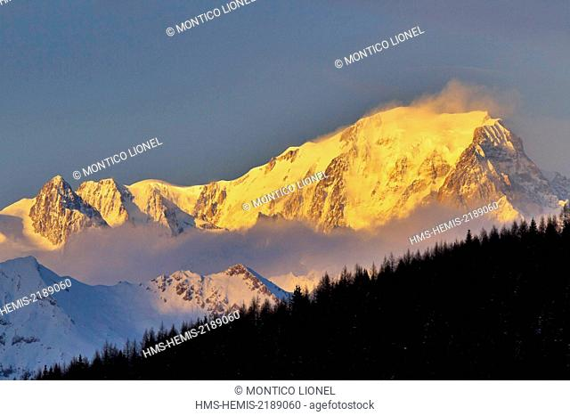 France, Haute-Savoie, the massif of the Mont Blanc