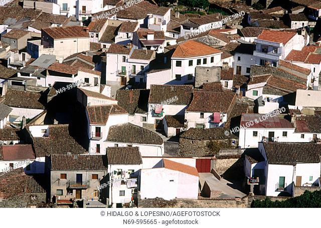 Canchalejo neighbourhood. Montánchez. Cáceres province, Extremadura, Spain