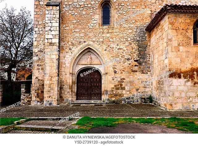 Santo Tomas church. old town of Covarrubias. Ruta del Cid, Burgos province, Castilla-León, Castile and León, Castilla y Leon, Spain, Europe