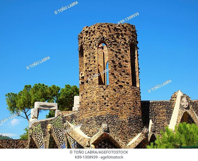 Crypt of Colònia Güell by Antoni Gaudí. Santa Coloma de Cervelló. Barcelona province, Catalonia, Spain