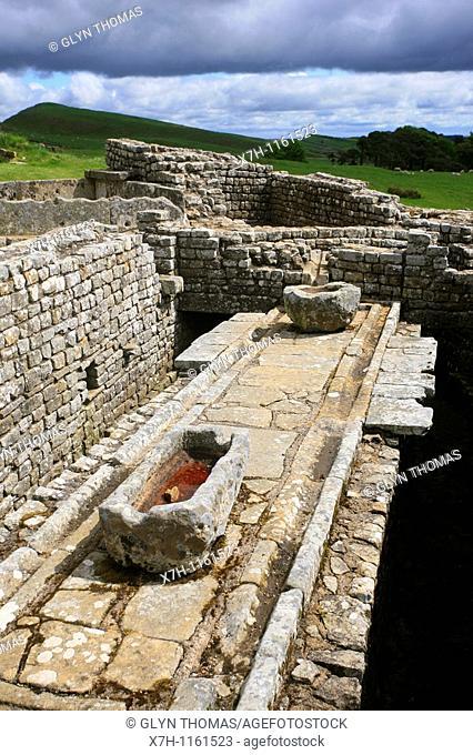 Latrines, Housesteads Fort, Hadrian's Wall, Northumberland, England