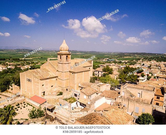 Iglesia de la Mare de Déu de la Salut, Maria de la Salut, Mallorca, balearic islands, spain, europe