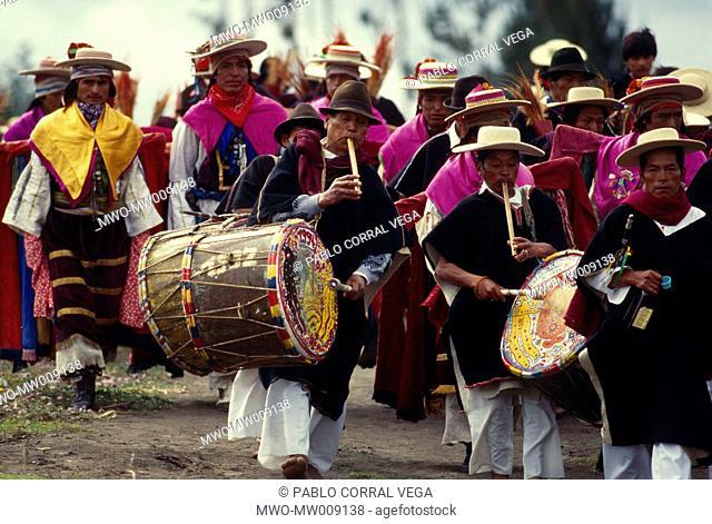 Corpus Cristi celebration in Salasaca, Ecuador May, 2006