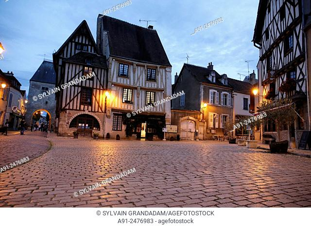 France,Burgundy,department of Yonne, historic village of Noyers