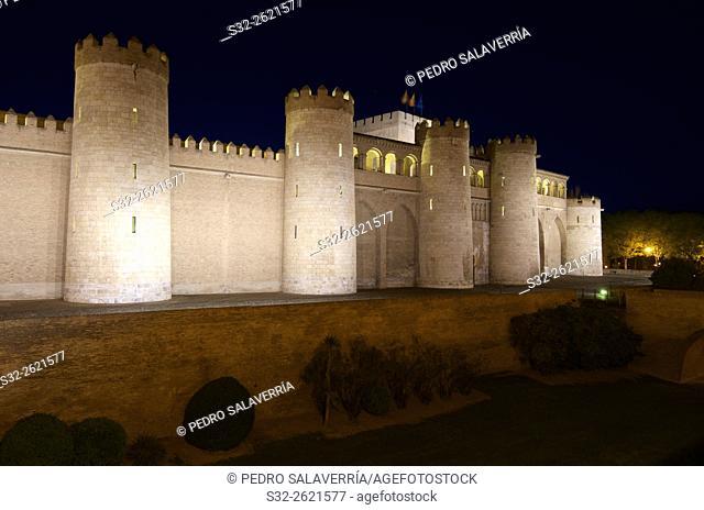 Aljaferia Castle in Zaragoza, Aragon, Spain