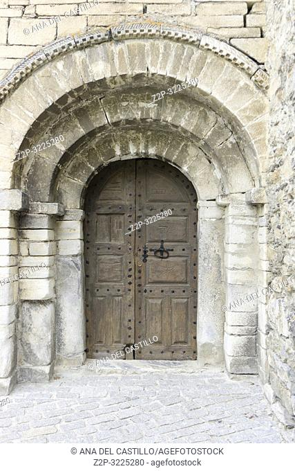 Sant Felix church in Flowered Bagergue village Aran valley Lleida Catalonia Spain