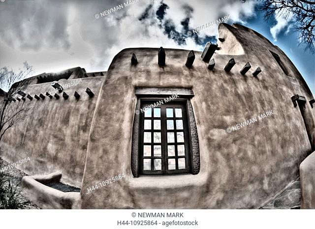 New Mexico, USA, United States, America, museum of art, Santa fe, New Mexico, USA, United States, America, museum, window, adobe