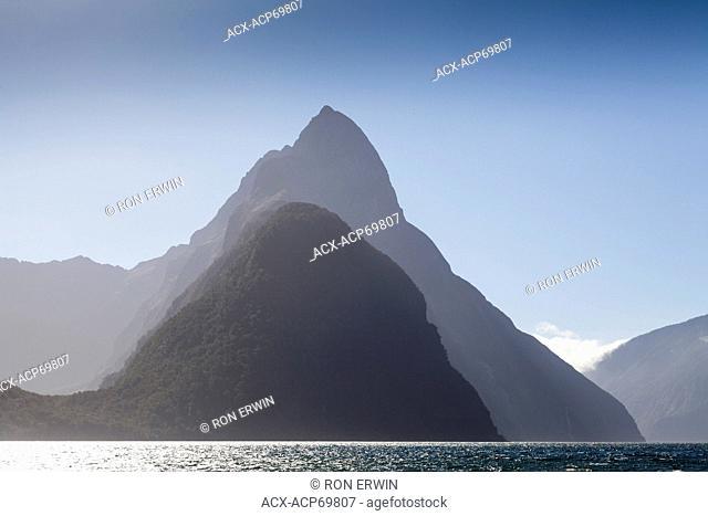Mitre Peak on Milford Sound in Fiordland National Park, New Zealand