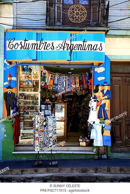 Souvenir shop in El Caminito in La Boca, Buenos Aires, Argentina