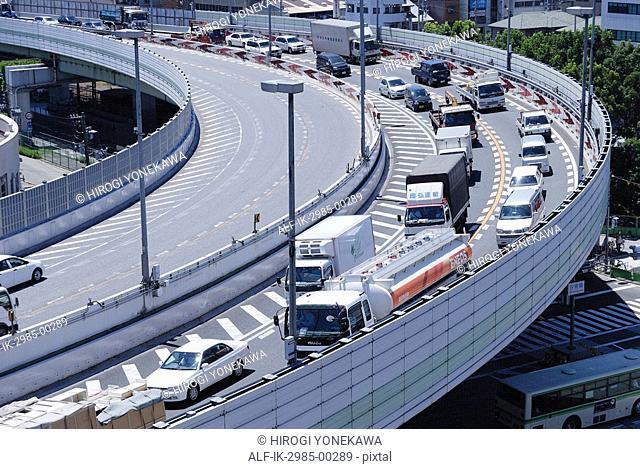 Hanshin Expressway at Osaka in Japan