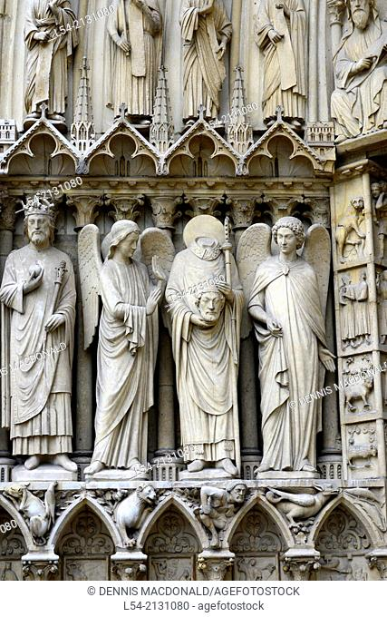 St. Denis Notre Dame Cathedral Catholic Church Paris France Europe FR