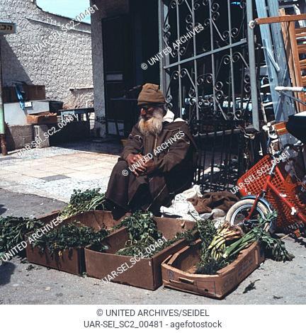 Auf dem Markt in Aschdod, Israel 1970er Jahre. At the market in Ashdod, Israel 1970s
