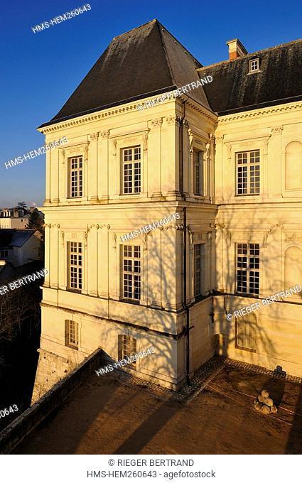 France, Loir et Cher, Loire Valley listed as World Heritage by UNESCO, Chateau de Blois, l'aile Mansart Gaston d'Orléans