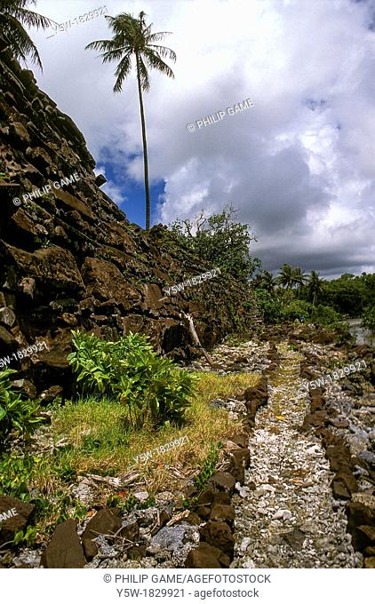 Ruined city of Nan Madol on Pohnpei Ponape, Federated States of Micronesia