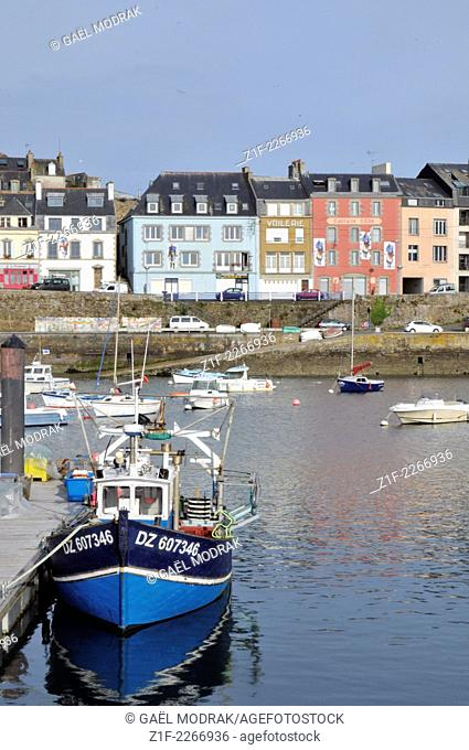 Fishing boats in Douarnenez, Brittany, France
