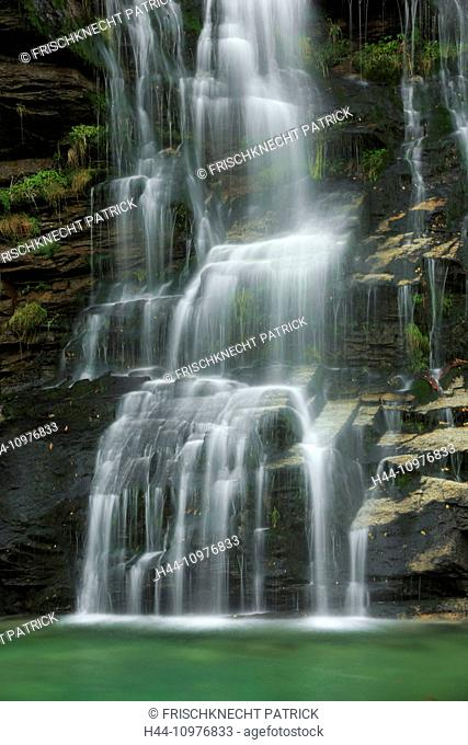 Washbasins, Faido, Cliff, rock, cliff wall, river, flow, autumn, cascade, cascades, Switzerland, Europe, steps, Ticino, water, water washbasin, flow, clear