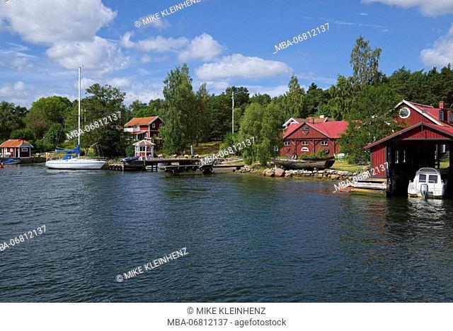 Sweden, Stockholm, island in the Schärengarten in front of Stockholm