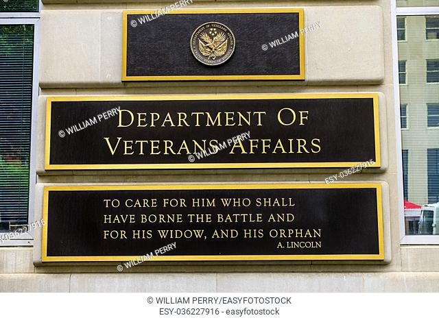 US Department of Veteran Affairs Washington DC. Located next to White House. Veteran Affairs go all the way back to Revolutionary War