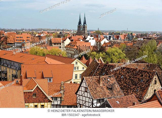 Roofs at Quedlinburg, Saxony-Anhalt, Germany, Europe