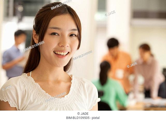 Smiling Chinese woman