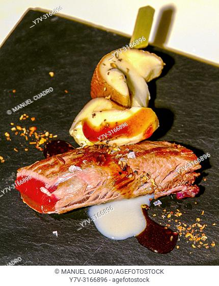 Hare's loin dish, New Basque Cuisine moviment, Bilbao, Basque Country, Spain