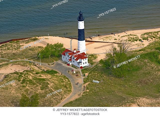 Called Grande Pointe au Sable by French explorers and traders, Big Sable Point was an important landmark for mariners traveling a treacherous stretch of Lake...