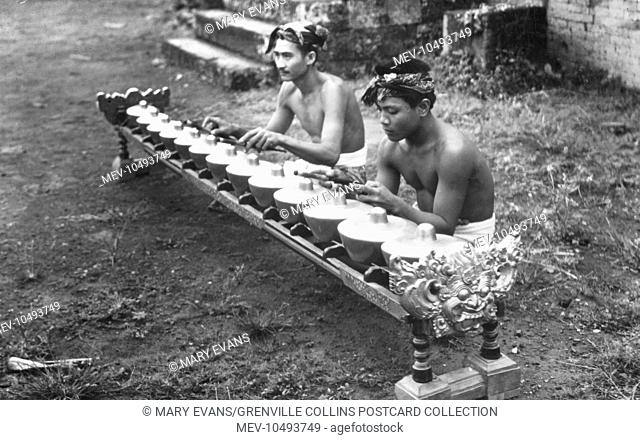 The Bonang is a musical instrument used in the Javanese gamelan (percussion orchestra). It is a collection of small gongs (sometimes called 'kettles' or 'pots')...