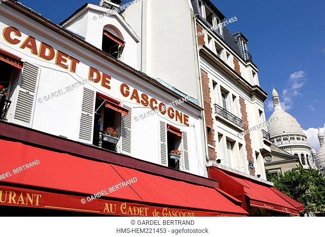 France, Paris, Montmartre Hill, Au Cadet de Gascogne Restaurant