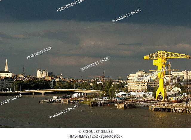 France, Loire Atlantique, Nantes, new city planning on the Isle of Nantes and in the city center