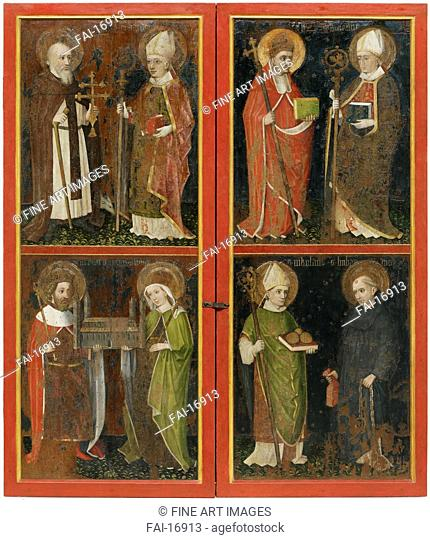 Anthony the Abbot and Erhard of Regensburg Sixtus II and Servatius Henry II and Cunigunde Saint Nicholas and Leonard. Workshop of the Wolfgang Retable (ca...