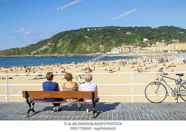 Zurriola beach, Donostia, San Sebastian, Basque country, Spain