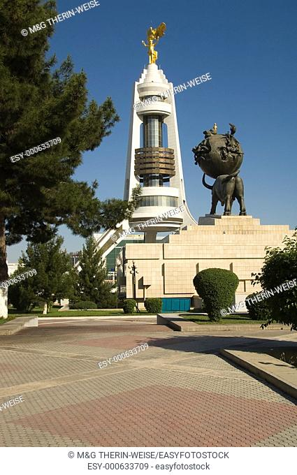 Arch of neutrality and commemorating monument to the Earthquake of 1948, Ashgabat, Turkmenistan