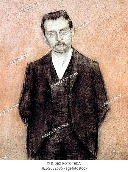 Portrait of Enric Prat de la Riba, (1870-1917), Spanish and Catalan politician, first president o?