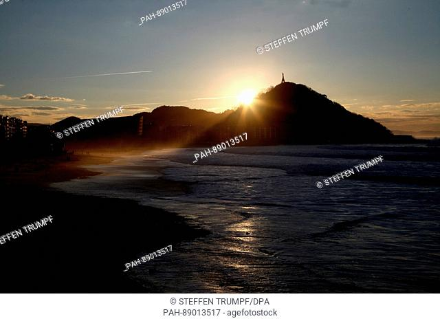 The beach Playa la Zurriola is magnificent to behold in Donostia-San Sebastián, Spain, 1 March 2017. The beach is the second largest after the Playa de La...