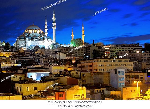 Suleymaniye mosque in Fatih district  Istanbul  Turkey