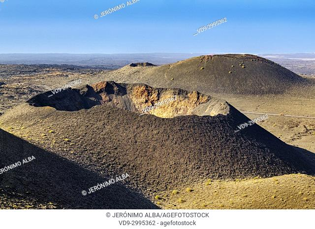Volcanic landscape, Timanfaya National Park. Lanzarote Island. Canary Islands Spain. Europe
