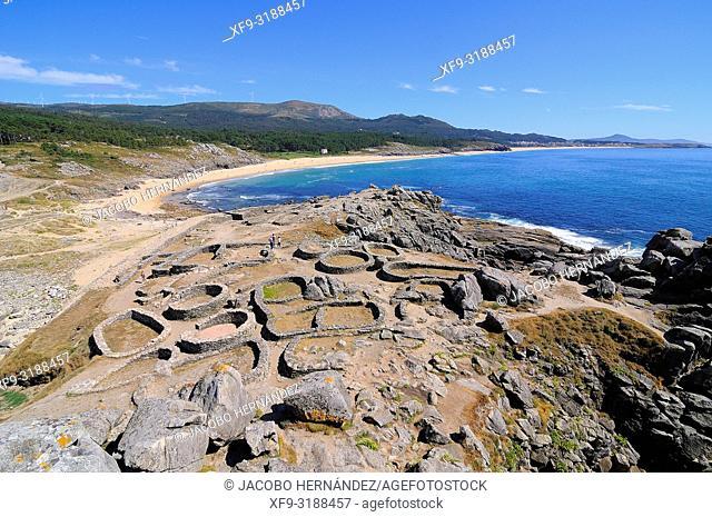 Castro de Baroña. Porto do Son. La Coruña province. Galicia. Spain