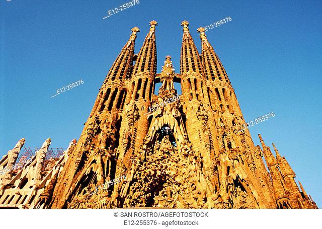 Spain, Catalunya, Barcelona, Gaudi, Sagrada familia