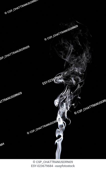 gray smoke on a black background