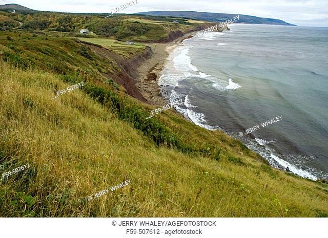 Coastal scenics near Broad Cove, Cape Breton Island, Nova Scotia, Canada
