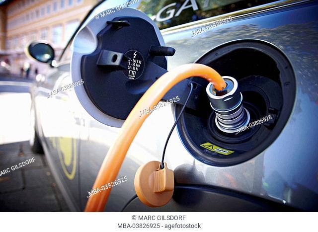 recharging an electricity car