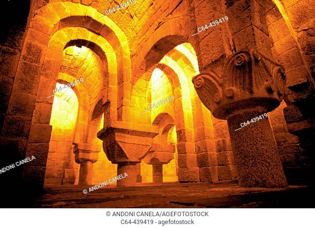 Crypta. Leyre monastery. Navarra. Spain