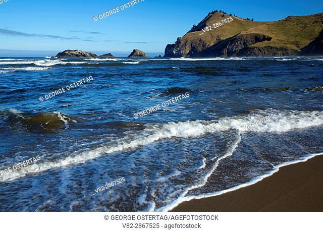 Beach to Cascade Head, Cascade Head Scenic-Research Area, Lincoln County, Oregon